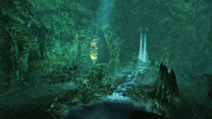 Waterfall inside Darkshade Copse